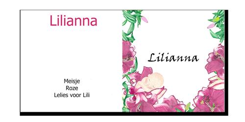 Geboortekaartje Lilianna